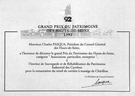 Prix du patrimoine des Hauts de Seine