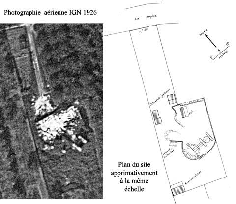 12 Vue aérienne IGN 1926 et plan actuel
