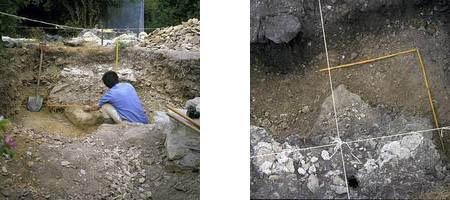 06 986 : vestige des fondations de la pile Sud du manège.