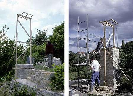 09 1987 : Construction de la pile Sud du manèg