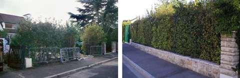 09 1993 La clôture rue Ampère avant et après les travaux.
